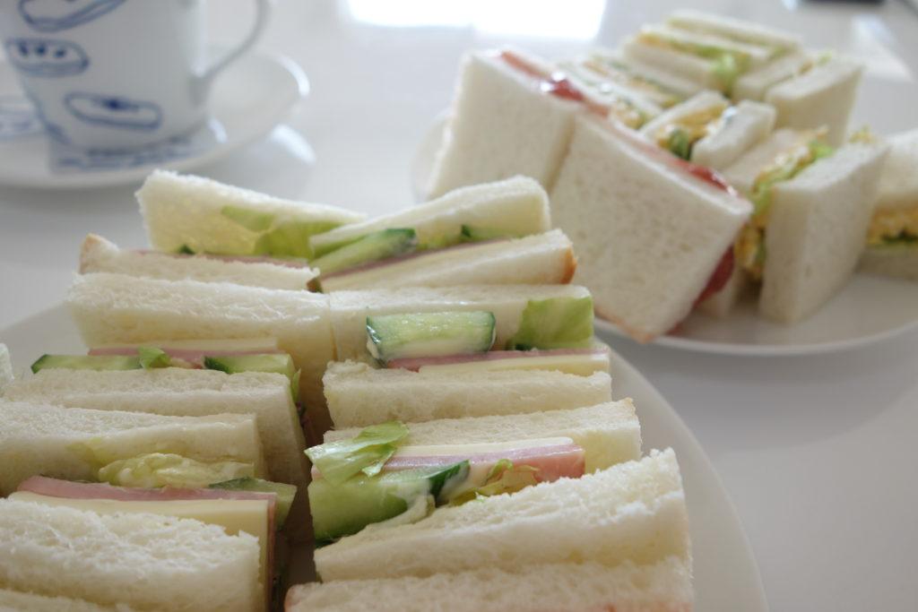 サンドイッチ出来上がり