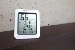 湿度が66パーセントある