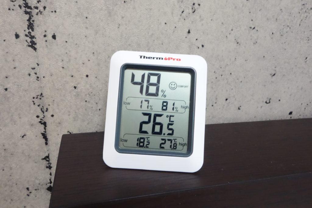 湿度は、48パーセントある