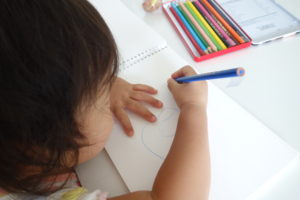色鉛筆でお絵かき
