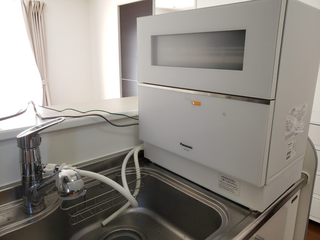 キッチンに設置したパナソニック食器洗い乾燥機