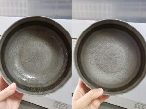 食器洗い乾燥機使用後のお皿の比較